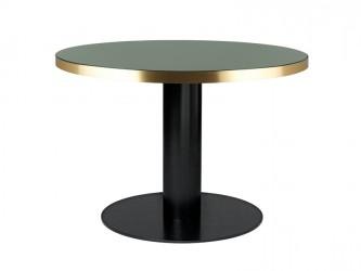 GUBI - 2.0 Spisebord - Grøn Glas - Ø110