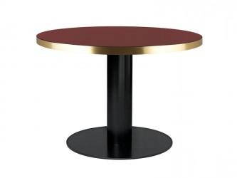 GUBI - 2.0 Spisebord - Rød Glas - Ø110