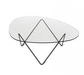 GUBI - Pedrera Lounge Bord - Glas m. sort base