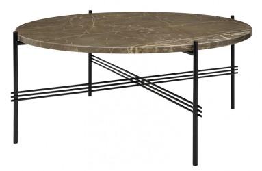 GUBI - TS Lounge bord brun marmor - Ø80