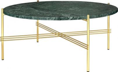 GUBI - TS Lounge bord grøn marmor - Ø80