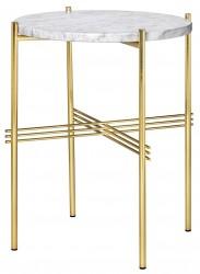 GUBI - TS Lounge bord hvid marmor - Ø40