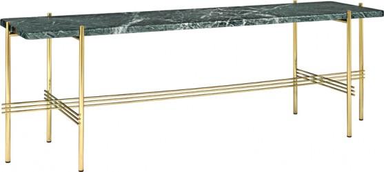 GUBI - TS1 Consol Rect. - Grøn marmor, messing