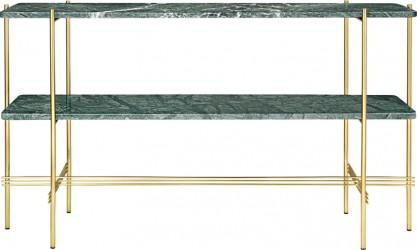 GUBI - TS2 Consol Rect. - Grøn marmor, messing