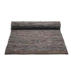 Gulv løber i mørk brun - 65x135 cm