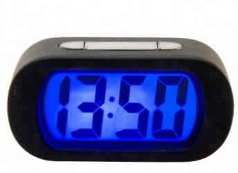 Gummi alarm ur (sort)