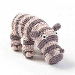 HÆklet dyr (rosa flodhest)