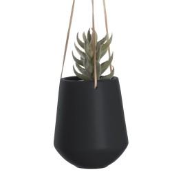 Hængende potte i sort - large