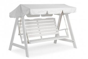Hængesofa hvidlakeret - 3 pers.