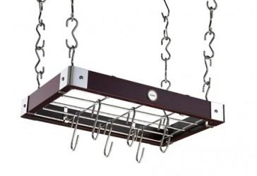 Hahn Kitchenware Metro taghænger 42x27x5 cm i espressofarvet træ