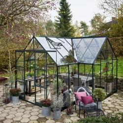 Halls drivhus inkl. sokkel - Garden Room - 12,9 m²