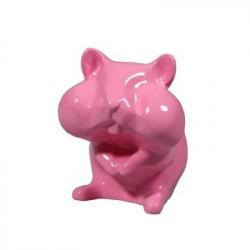 HAMSTER Sparebøsse, figur. PINK