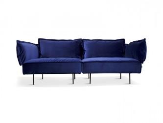 "HANDVÃ""RK - 2-pers. sofa Blå Velour"