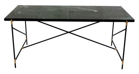 "HANDVÃ""RK - Spisebord 185x94 - Grøn Marmor, messing"