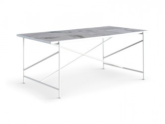 "HANDVÃ""RK - Spisebord 185x94 - Hvid Marmor"