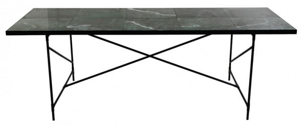 "HANDVÃ""RK - Spisebord 230x94 - Grøn Marmor"