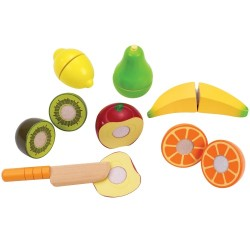 Hape legemad - Frugt og kniv - Fresh Fruit