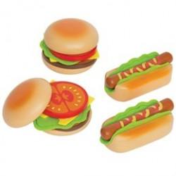 Hape legemad - Hamburgere og hotdogs