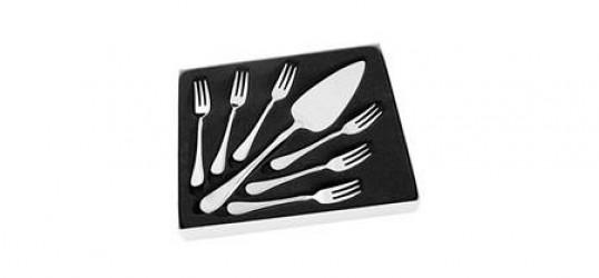 Hardanger Bestikk Carina Kagesæt 6 gafler samt Kagespade