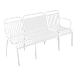 Havebænk / bord med 2 stole - Hvid