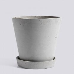 HAY Flowerpot With Saucer XL Grey