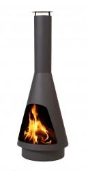 HEAT La Luz udepejs - sort stål, (flere størrelser) 130 cm