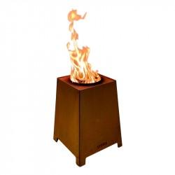 HETA Quad Outdoor Pillebrænder Cortenstål H:50 B:37 D:37