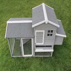 Hønsehus til haven - Grå/hvid