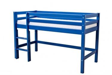 HoppeKids BASIC Juniorseng - 90x200 cm blå