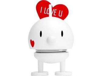 Hoptimist Figur Baby Bumble Love Plastik Hvid