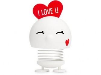 Hoptimist Figur Bimble Love Plastik Hvid
