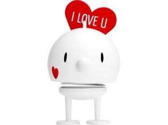 Hoptimist Figur Bumble Love Plastik Hvid