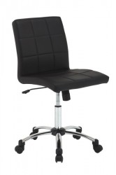 Hot skrivebordssstol, sort læderlook