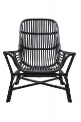 HOUSE DOCTOR Colony loungestol - sort rattan