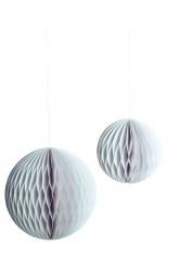 House doctor ornament paper art sÆt a 2 stØrrelser hvid