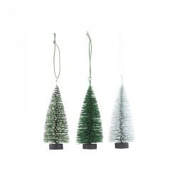 House doctor ornamenter x-mas tree 3 fv./pk (10 cm)
