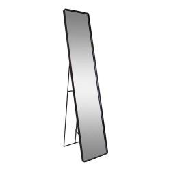 HOUSE NORDIC Avola gulvspejl - spejlglas og sort metal (170x35)