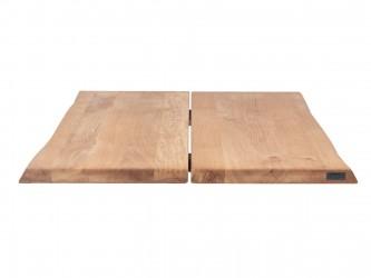 HOUSE OF SANDER Hugin plankebord med X-ben - olieret/hvidolieret/smoked egetræ, 80x120 cm Olieret eg