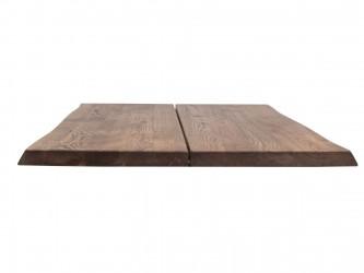 HOUSE OF SANDER Hugin plankebord med X-ben - olieret/hvidolieret/smoked egetræ, 80x120 cm Røget eg