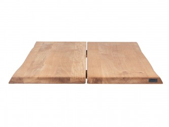 HOUSE OF SANDER Hugin plankebord med X-ben - olieret/hvidolieret/smoked egetræ, 95x240 cm Olieret eg