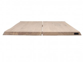 HOUSE OF SANDER Hugin plankebord med X-ben - olieret/hvidolieret/smoked egetræ, 95x295 cm Hvidolieret eg