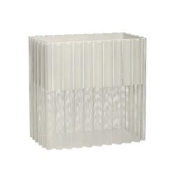 HÜBSCH plantekasse - lysegrå metal, rektangulær (47x27)