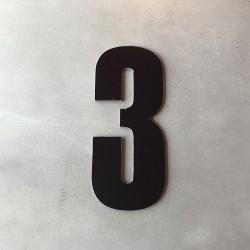 Husnummer 3 sort - 20 cm