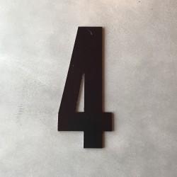 Husnummer 4 sort - 20 cm