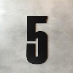Husnummer 5 sort - 20 cm