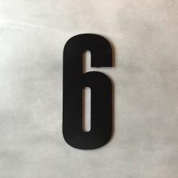 Husnummer 6 i sort - 20 cm