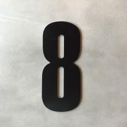 Husnummer 8 i sort - 20 cm