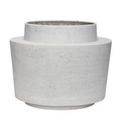 HÜBSCH potte - grå fibersten, rund (Ø 31)