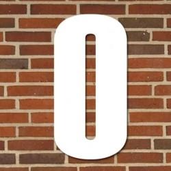 Hvidt husnummer 40 cm - 0