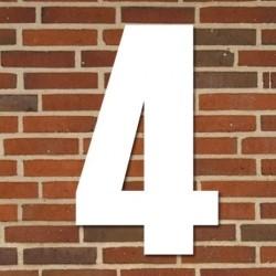 Hvidt husnummer 40 cm - 4